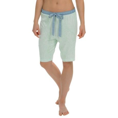 Nautica Sleepwear Printed Jersey Bermuda Shorts (For Women)
