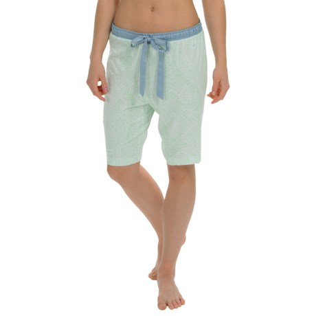 Nautica Sleepwear Printed Jersey Bermuda Shorts (For Women)