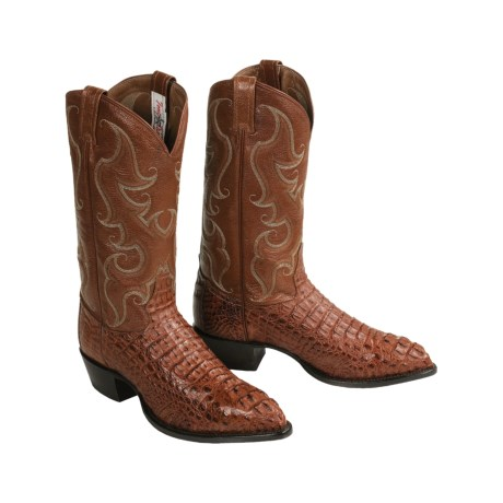 Tony Lama Hornback Caiman Western Boots (For Men)