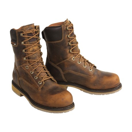Double H Lace-Up Work Boots - Steel Toe (For Men)