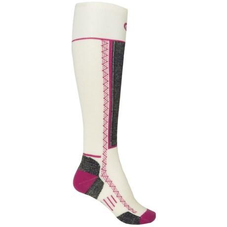 Point6 Shred Ski Socks - Merino Wool, Over the Calf (For Men and Women)