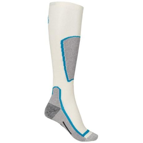 Point6 Ski Light Socks - Merino Wool, Over the Calf (For Men and Women)
