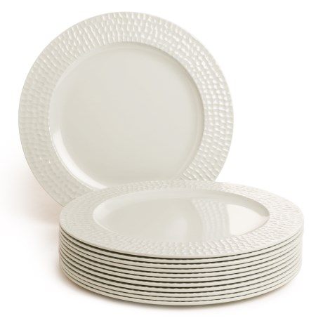 Knack3 Cape Cod Collection Melamine Dinner Plates - Set of 12