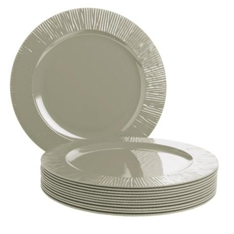 Knack3 Cabin Collection Melamine Dinner Plates - Set of 12