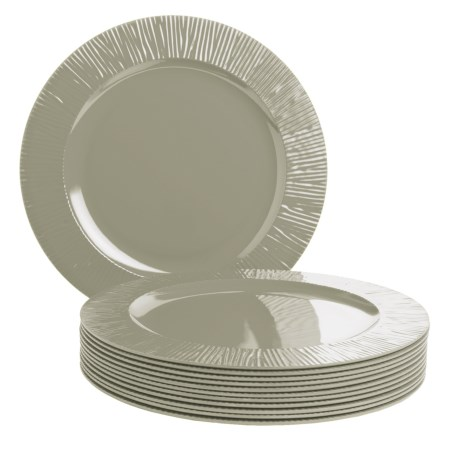 Knack3 Cabin Collection Melamine Dinner Plates - Set of 12