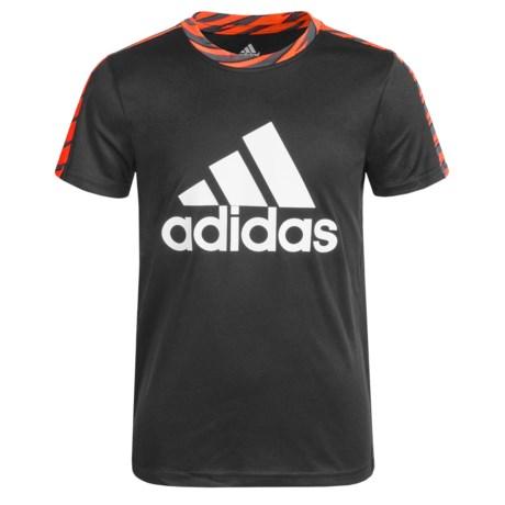 adidas Solid Large Logo Shirt - Short Sleeve (For Big Boys)