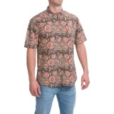 Free Nature Printed Canvas Shirt - Short Sleeve (For Men)