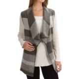Max Studio Striped Boiled Wool Vest (For Women)
