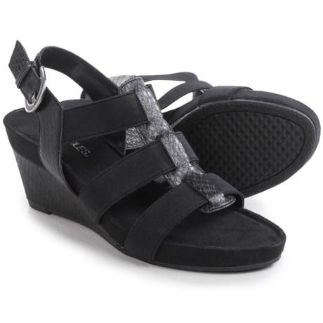 Aerosoles Lightscape Black Snake Wedge Sandals (For Women)
