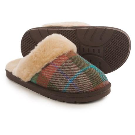 LAMO Footwear Wool Tweed Scuff Slippers (For Women)