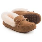 LAMO Footwear Mist Moccasin Slippers - Suede, Sheepskin Lined (For Women)
