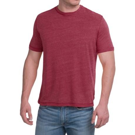 Natural Blue Linen-Blend T-Shirt - Short Sleeve (For Men)