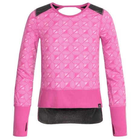 RBX Hi-Lo Athletic Shirt - Long Sleeve (For Little and Big Girls)