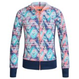 RBX Stretch-Knit Hooded Jacket - Full Zip (For Little and Big Girls)