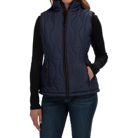 Weatherproof Quilted Swirl Vest - Faux-Fur Lined (For Women)