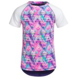 RBX Printed High-Performance Active Shirt - Short Sleeve (For Little and Big Girls)