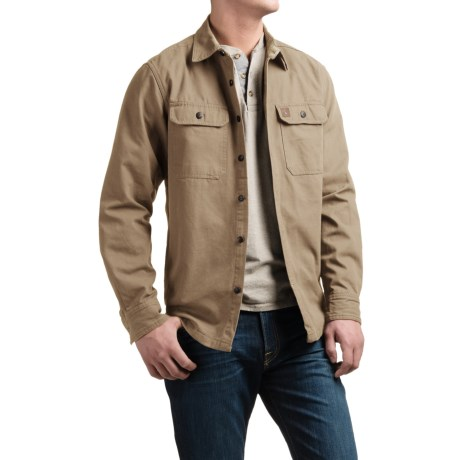 Coleman Canvas Shirt Jacket - Flannel Lined (For Men)