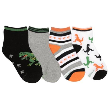 Stride Rite Darron Quarter Socks - 4-Pack, Quarter Crew (For Little Boys)