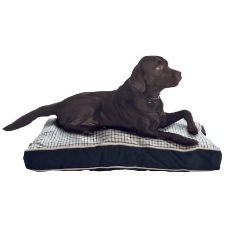 "Telluride Windowpane Rectangle Dog Bed - Large, 27x36"""