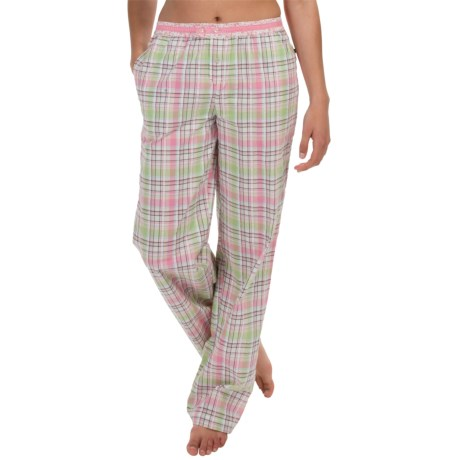 Jane and Bleecker Seersucker Pajama Pants - Button Front (For Women)