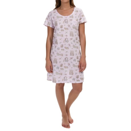 Carole Hochman Everyday Treasures Jersey Sleep Shirt - Short Sleeve (For Women)