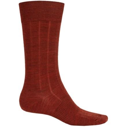 SmartWool City Slicker Socks - Merino Wool, Mid Calf (For Men) in Cinnamon Heather - 2nds