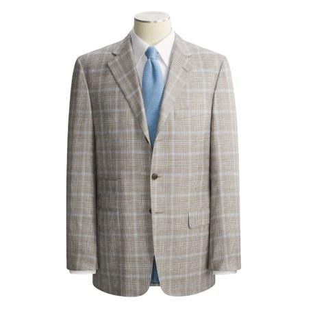 Belvest Cashmere-Silk Plaid Sport Coat (For Men)