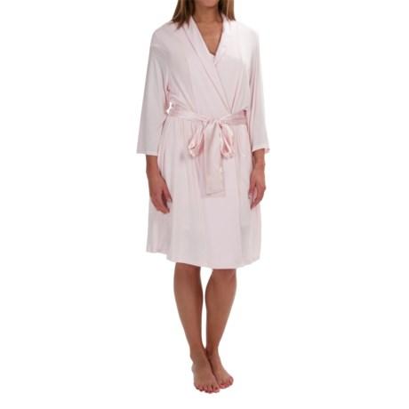 Midnight by Carole Hochman Simple Slumber Robe - Long Sleeve (For Women)