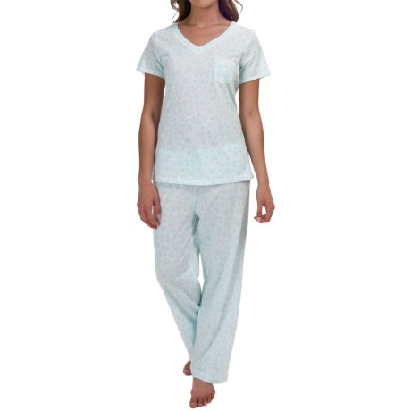 Carole Hochman Jersey Pajamas - Short Sleeve (For Women)