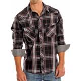Rock & Roll Cowboy Poplin Plaid Western Shirt - Snap Front, Long Sleeve (For Men)