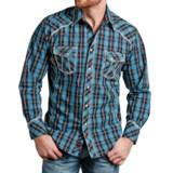 Panhandle 90 Proof Tartan Satin Plaid Western Shirt - Snap Front, Long Sleeve (For Men)
