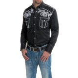 Panhandle 90 Proof Embroidered Poplin Western Shirt - Snap Front, Long Sleeve (For Men)