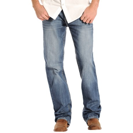 Rock & Roll Cowboy Double Barrel V-Embroidered Jeans - Relaxed Fit, Straight Leg (For Men)