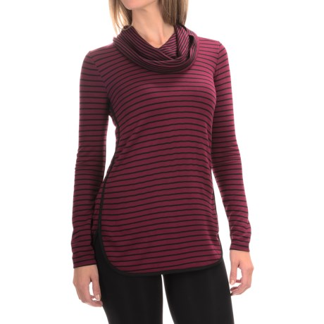CG Cable & Gauge Cable & Gauge Cowl Neck Shirt - Long Sleeve (For Women)