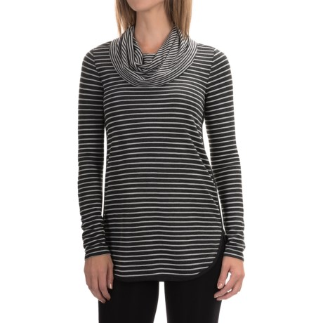 Cable & Gauge Cowl Neck Shirt - Long Sleeve (For Women)