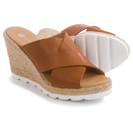 Eric Michael Valencia Wedge Sandals - Leather, Wedge Heel (For Women)