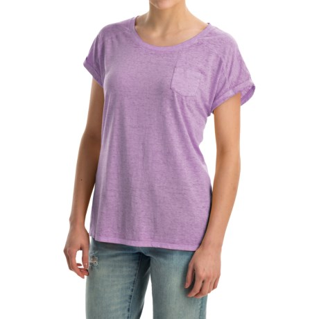 Mineral-Washed Pocket T-Shirt - Short Sleeve (For Women)