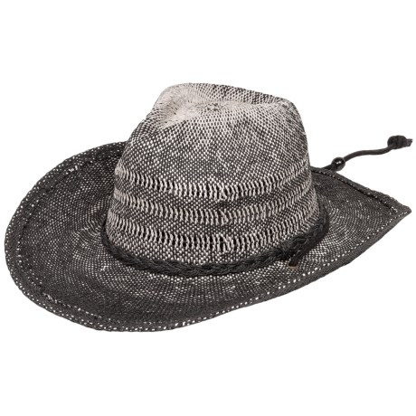 Scala Two-Toned Western Hat - Chin Cord (For Men and Women)