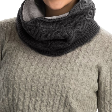 Cuddl Duds Diamond Stretch Textured Snood Scarf (For Women)