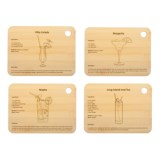 Core Bamboo Cocktail Cutting Boards - Set of 4