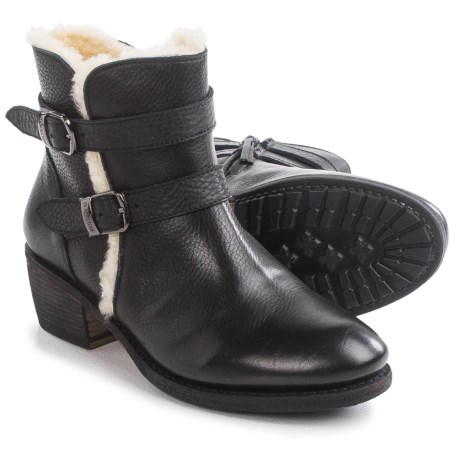 Blackstone EW66 Leather Ankle Boots - Wool Lining (For Women)