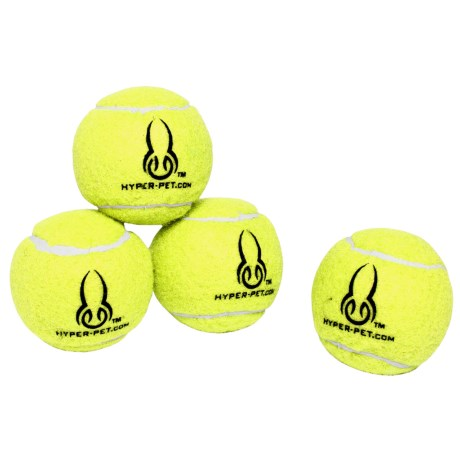Hyper Pet Tennis Balls - 4-Pack