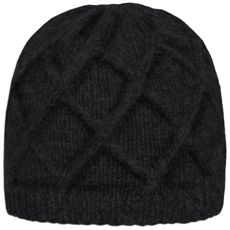 Rella Crossed Beanie - Lambswool, Fleece Lined (For Men and Women)