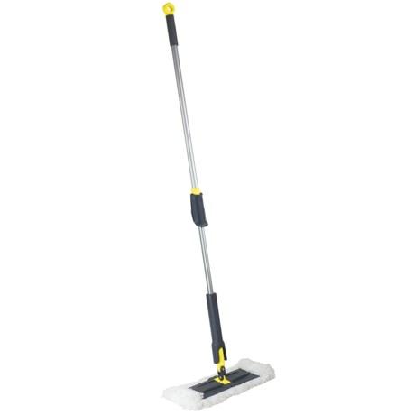 "Height-Adjustable Microfiber Floor Duster - 64"""