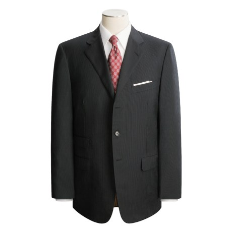 Belvest Black Stripe Suit - Wool (For Men)