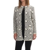 August Silk Printed Faux-Fur Cardigan Coat (For Women)