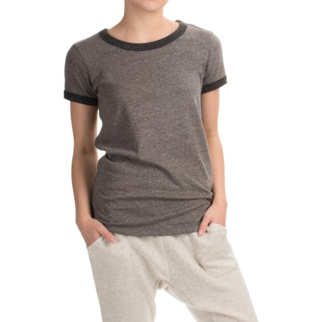 Alternative Apparel Ideal Ringer Eco-Mock Twist T-Shirt - Short Sleeve (For Women)