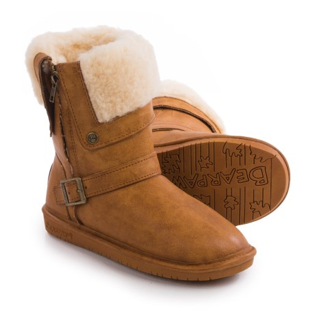 Bearpaw Madison Sheepskin Boots - Faux Leather (For Women)