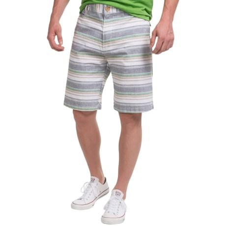 Kudeta Casual Cotton Stripe Shorts (For Men)
