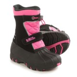 totes Black and Pink Strap Snow Boots (For Toddlers)